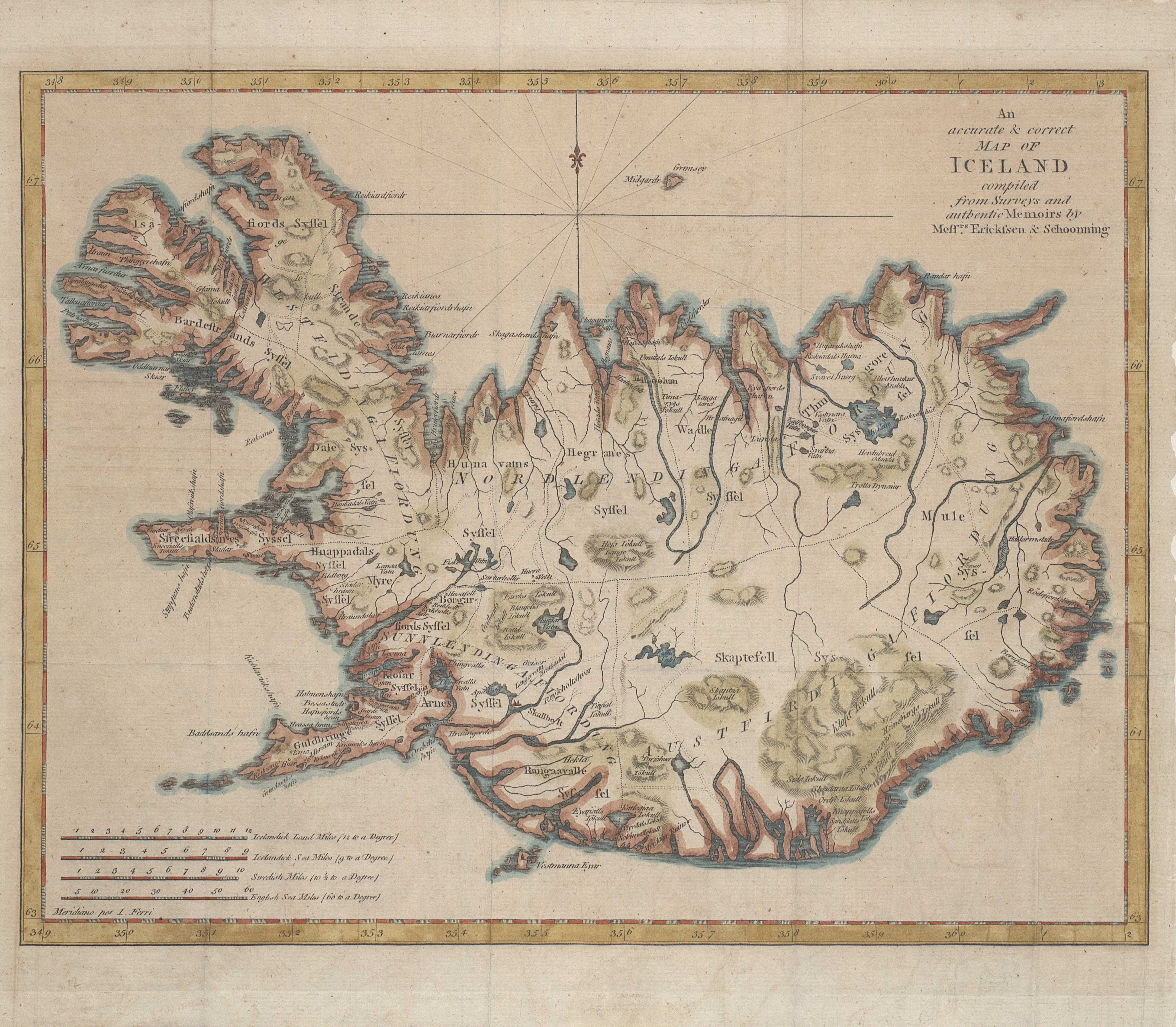 An accurate & correct map of Iceland
