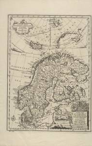 A Map of Spitzbergen or Greenland, Iceland, and some Part of Groenland &c (Emanuel Bowen, 1747)