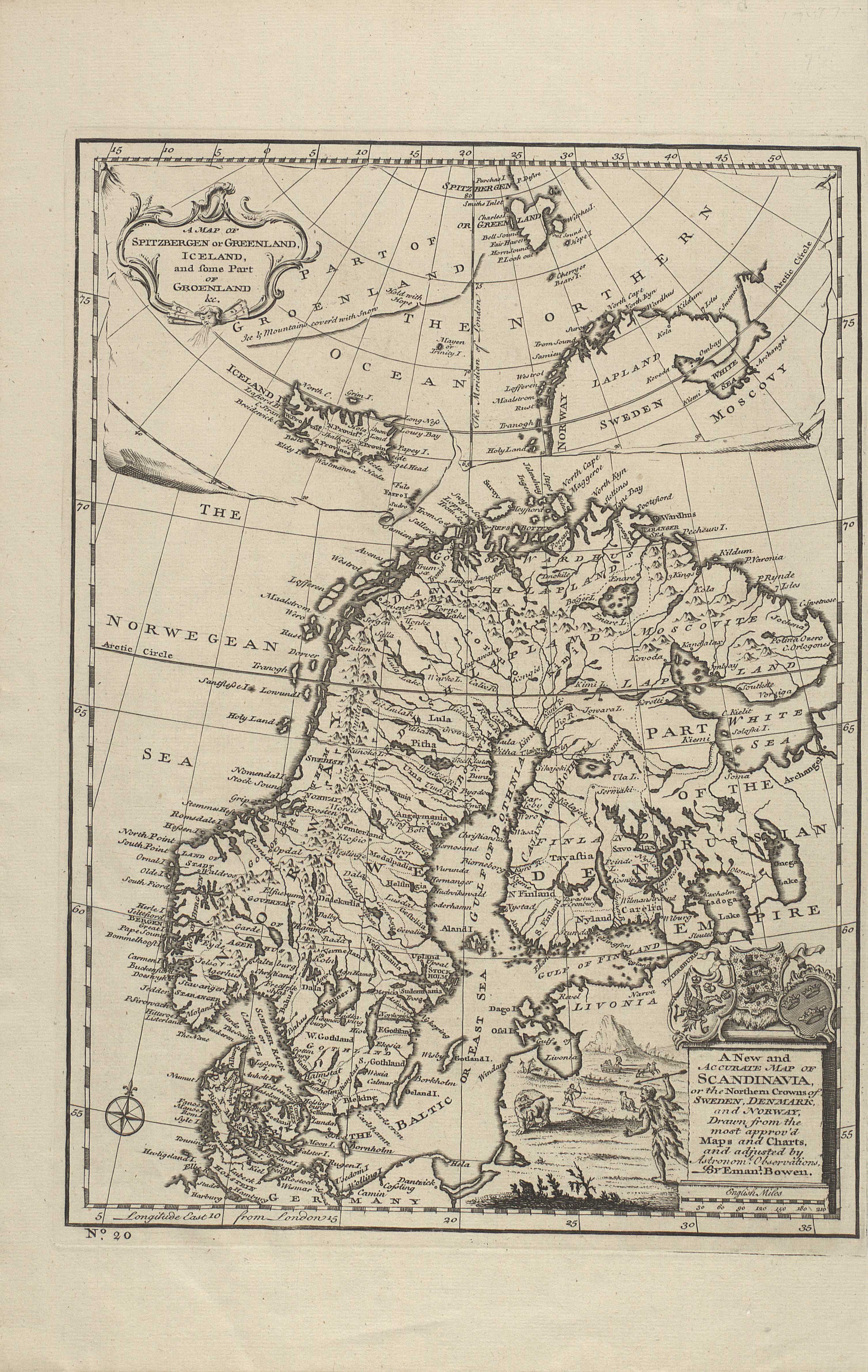 A Map of Spitzbergen or Greenland, Iceland, and some Part of Groenland &c
