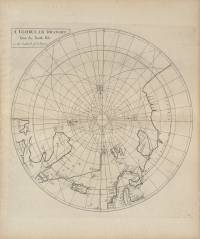 A globular draught from the North Pole to the Latitude of 60 Degrees (Nathaniel Cutler, 1728)