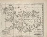 Carte de l'Islande (Niels Horrebow, 1768)