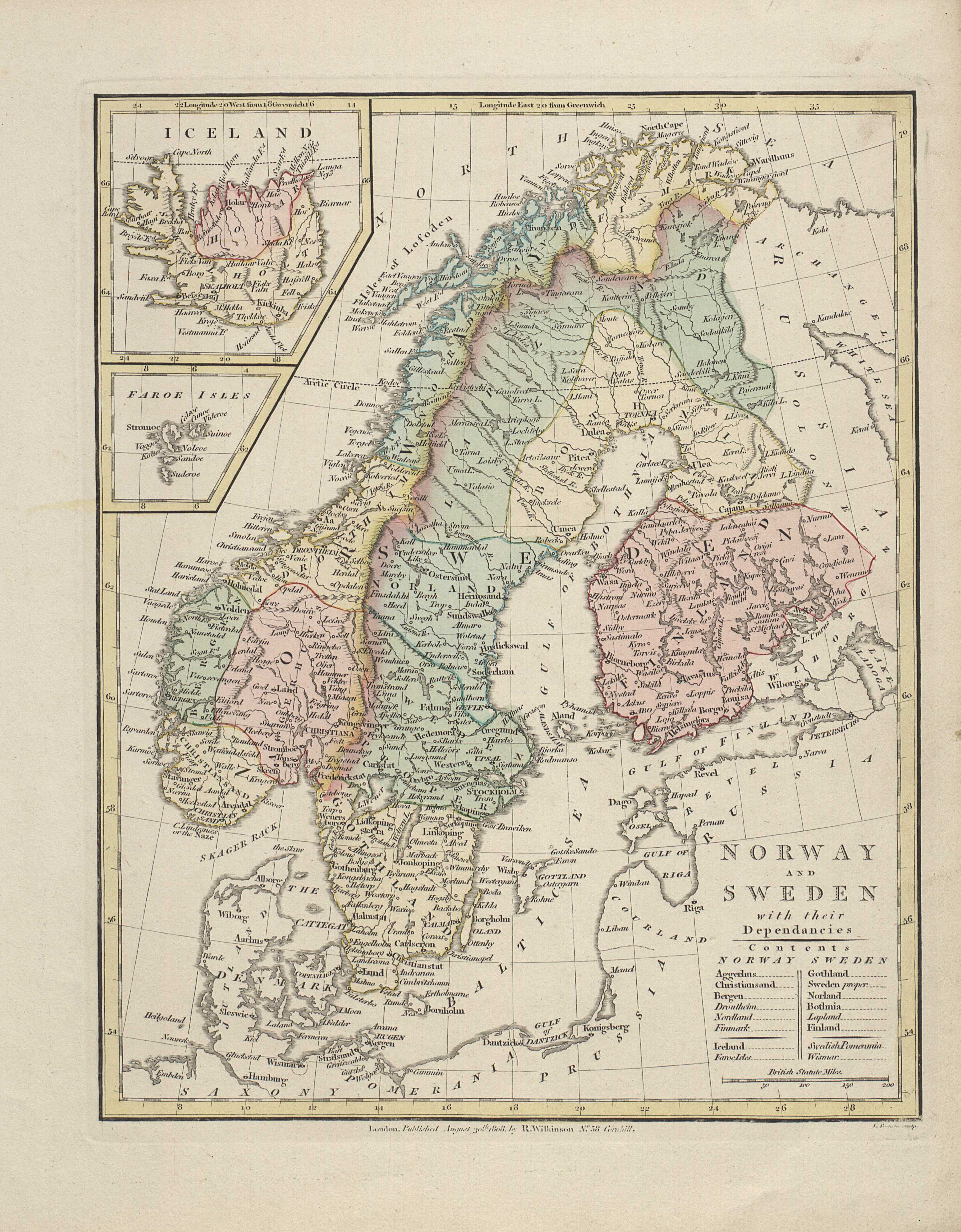 Norway and Sweden with their dependancies