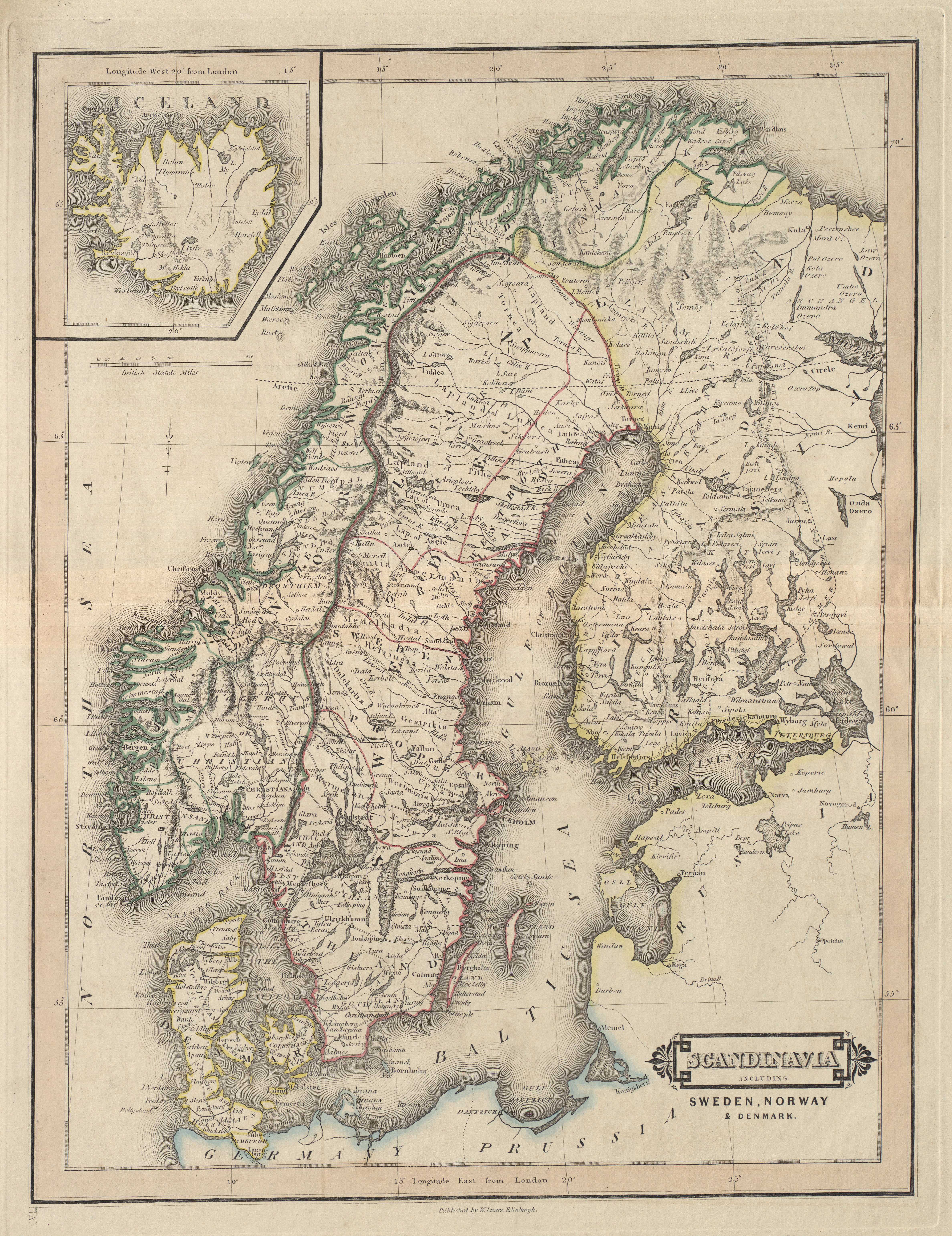 Scandinavia, including Sweden, Norway & Denmark - Iceland