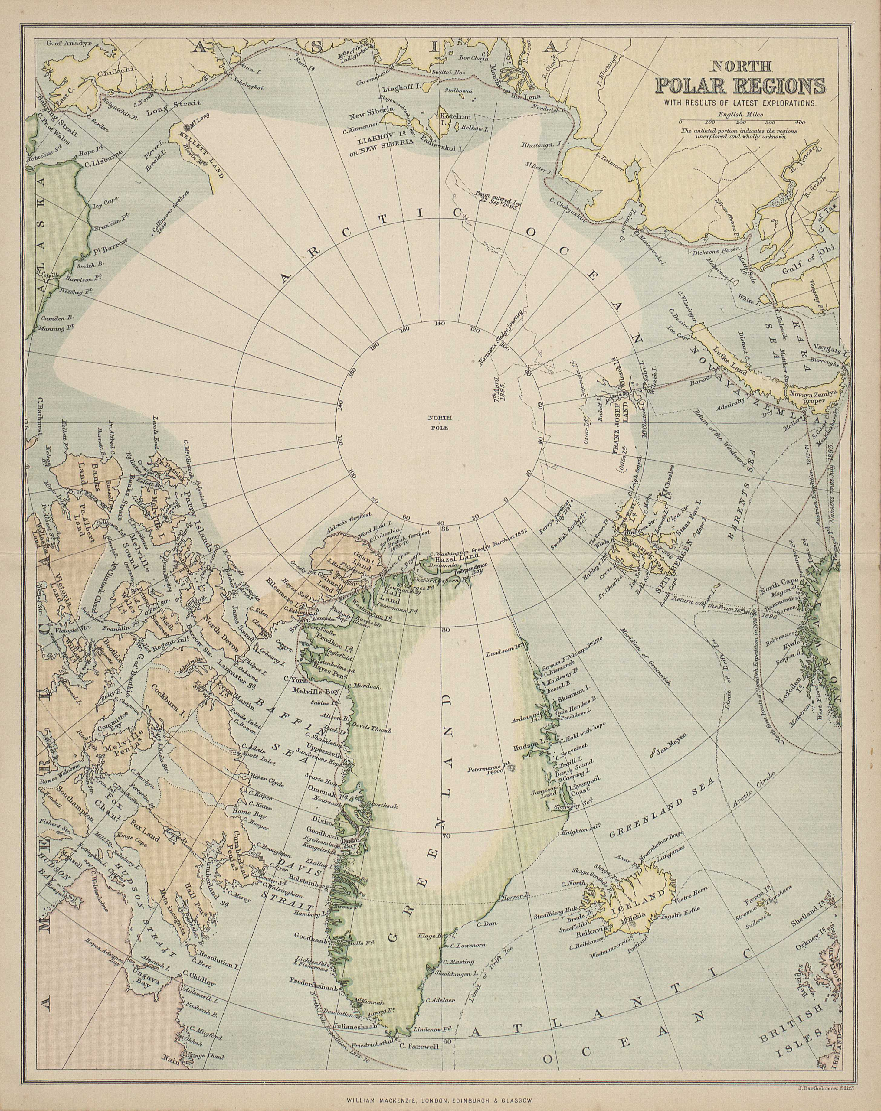 North Polar Regions with results of latest explorations