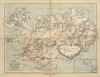 Tourist's Map of Iceland (Edward Weller, 1860)