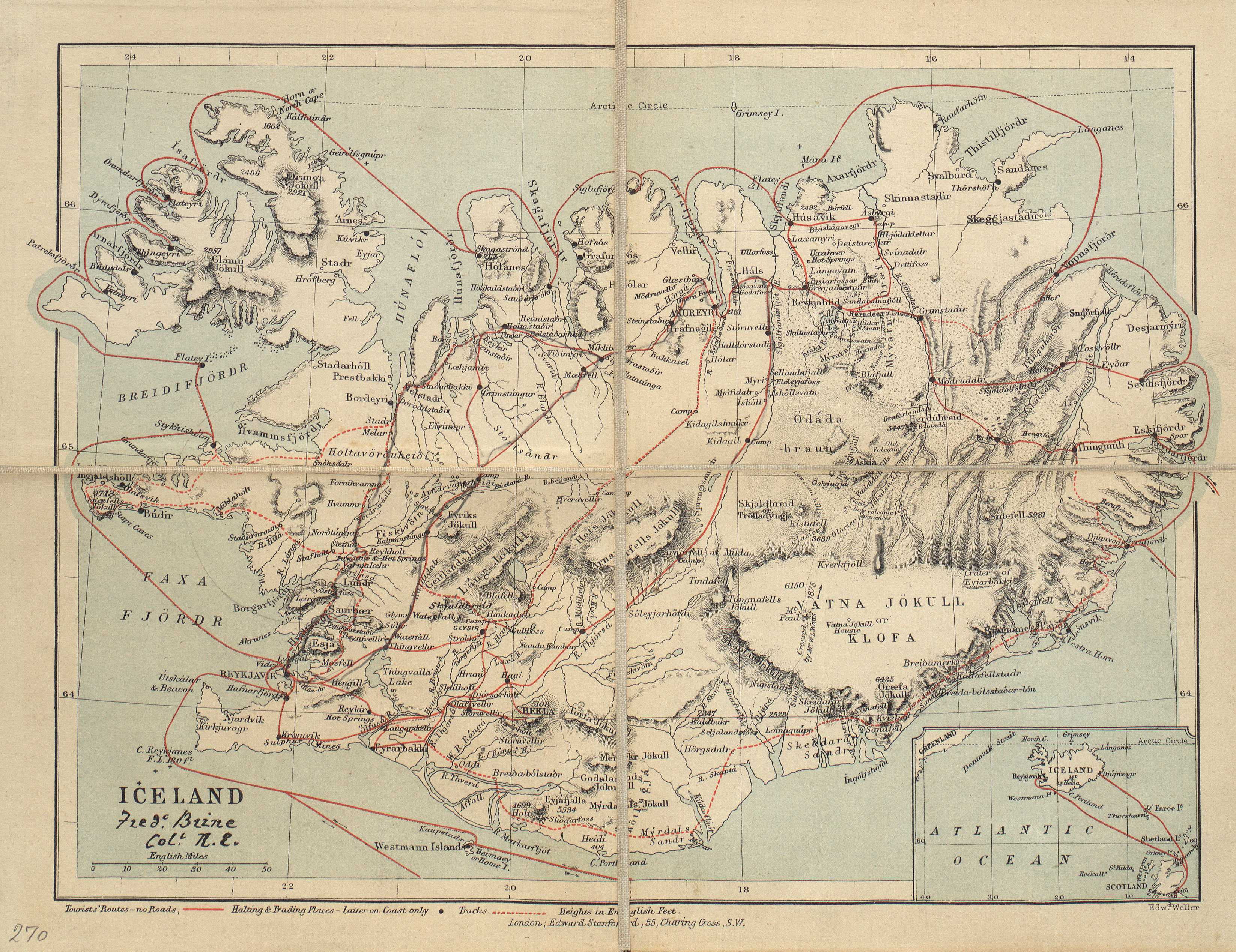 Tourist's Map of Iceland